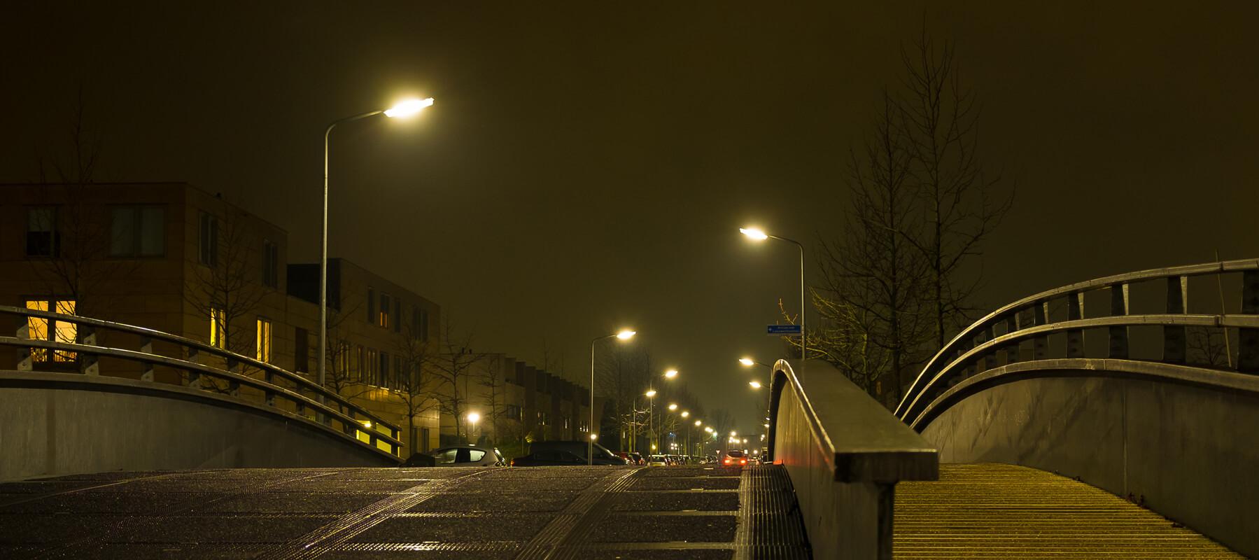 Oranje straatverlichting - natriumlamp vervangen door LED