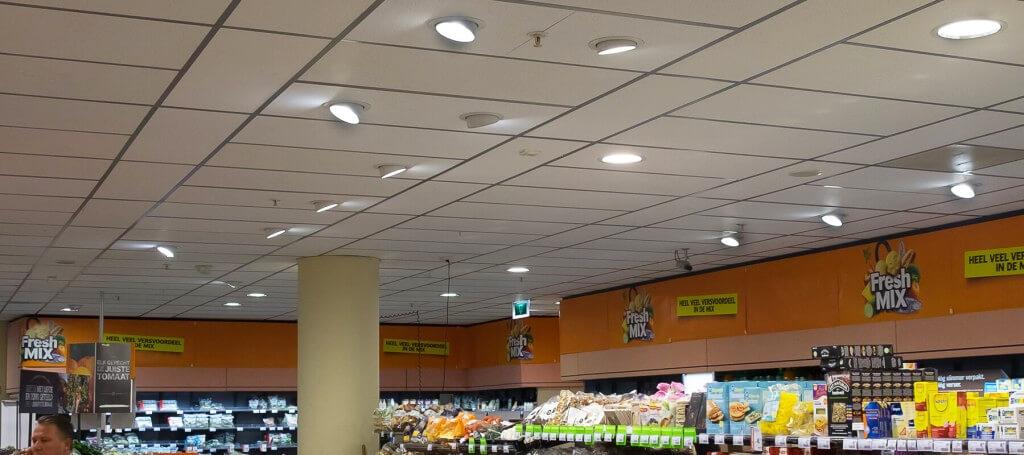 Nieuwe Led verlichting van Saled bij Albert Heijn Dordrecht