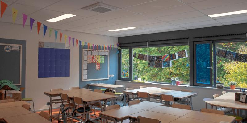LED verlichting van Saled in een klaslokaal van CNS De Triangel