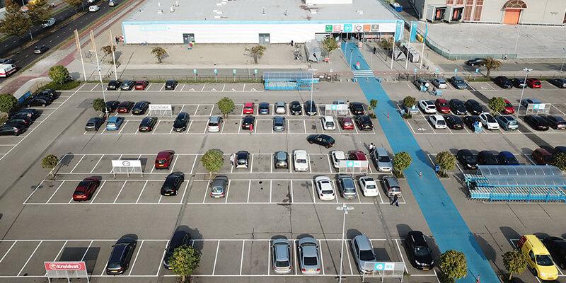 AH XL Ede plaatst LED verlichting op het parkeerterrein