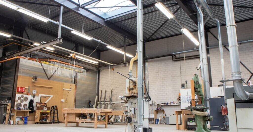Van Bekkum LED verlichting werkplaats