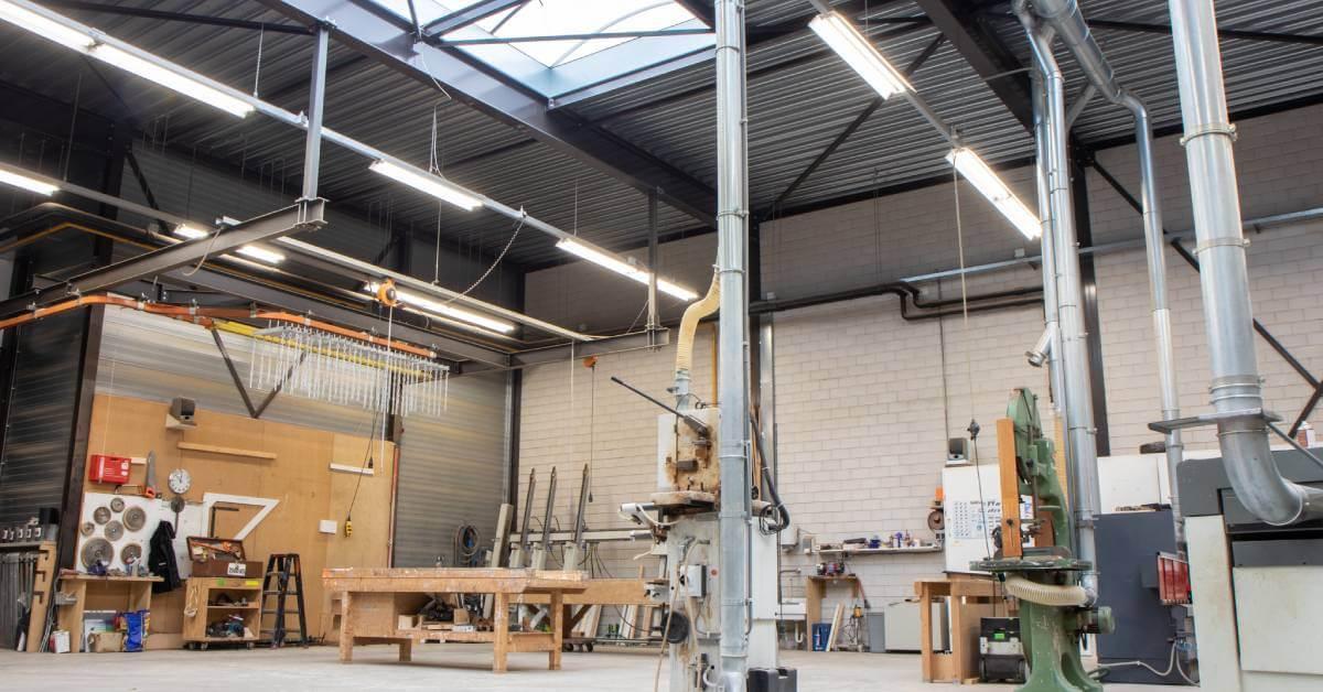 Van Bekkum LED industrieverlichting werkplaats