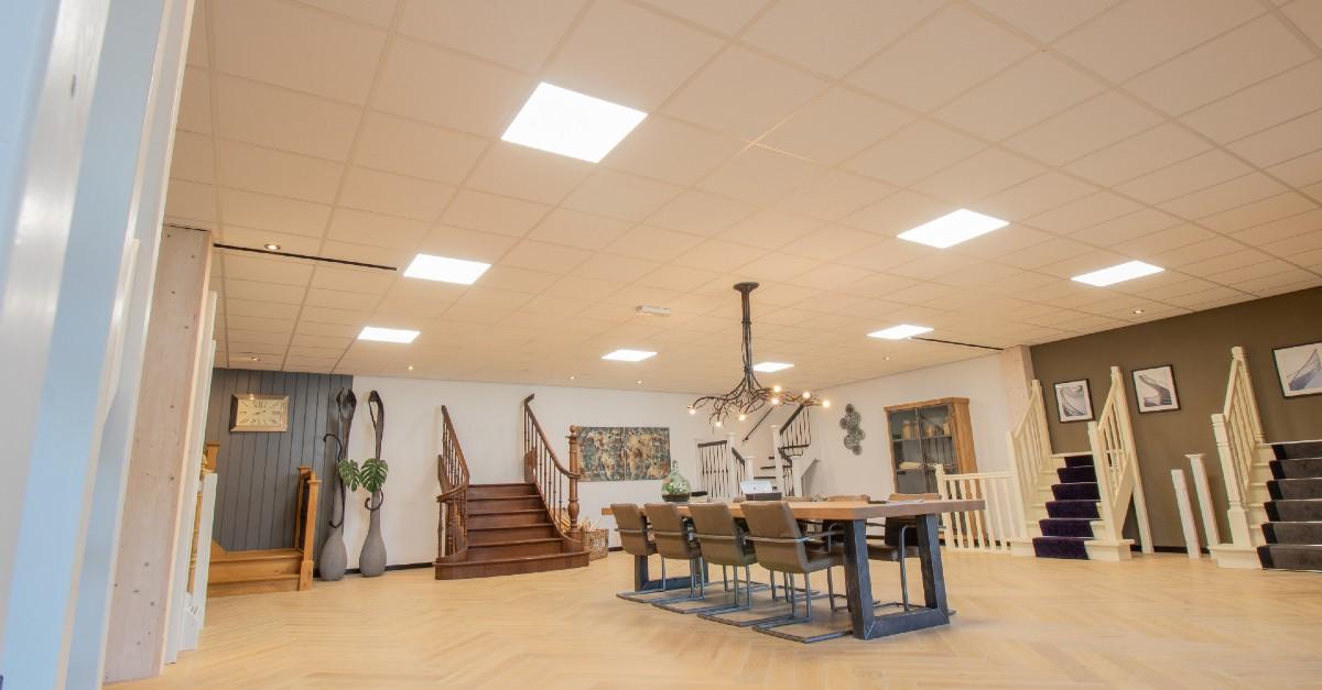 verdonk trappen over op led verlichting van saled - led verlichting showroom